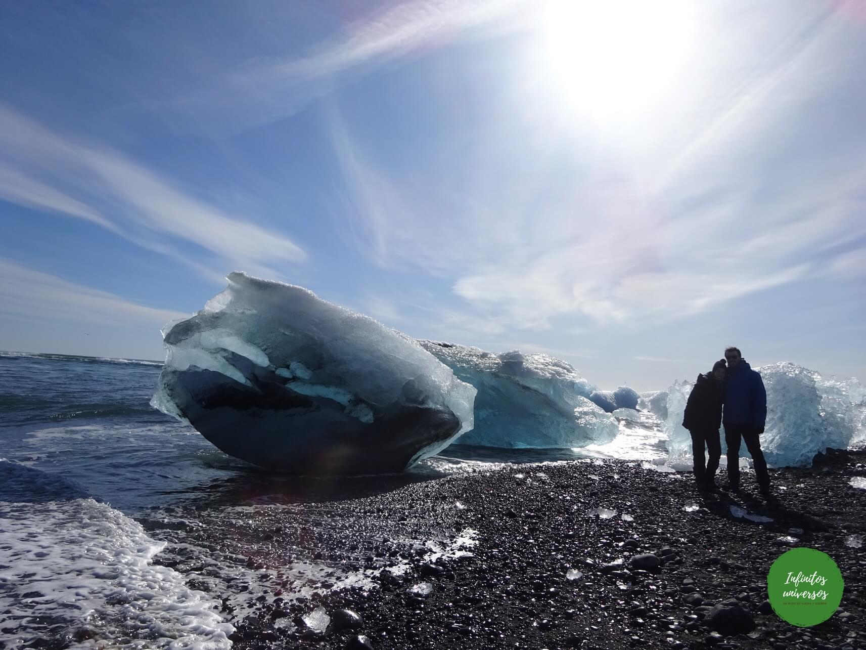 Playa de los Diamantes Lago glaciar Jökulsárlón