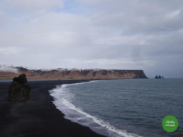 Playa de arena negra Reynisfjara dyrholaey