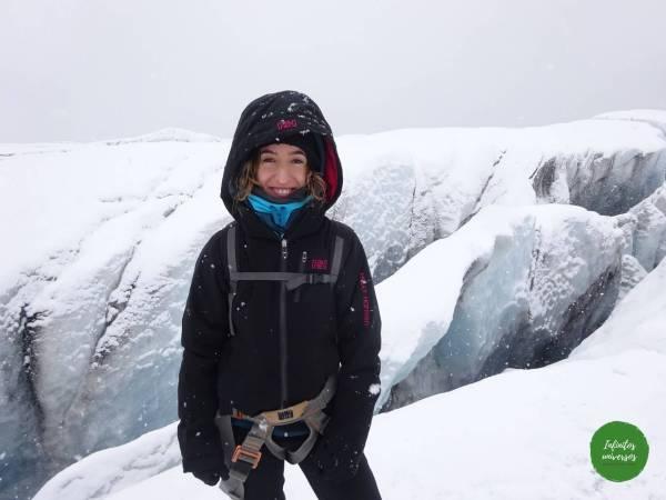 Trekking por el glaciar