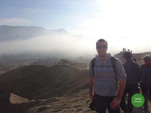 Subiendo al volcán java