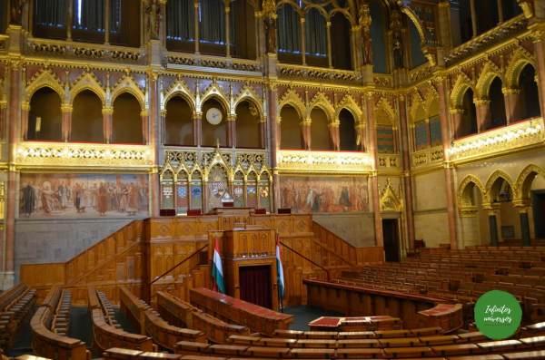Interior del parlamento Budapest  - Qué ver en Budapest