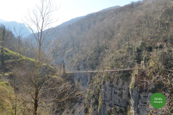 pirineos franceses ruta puente colgante de holtzarte pasarela de holtzarte y garganta de kakueta