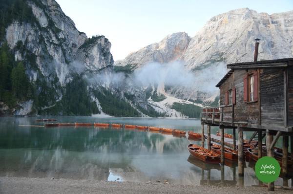 Lago di Braies Dolomitas Italia - Europa en verano Que ver cerca de Cortina d'Ampezzo