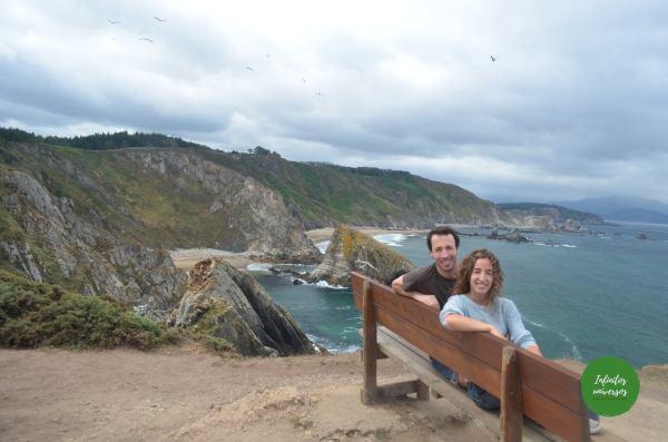 Que ver en las Rías Altas Galicia el banco más bonito del mundo acantilados de loiba