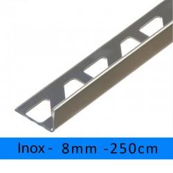 profil finition inox aisi 304 equerre angle droit 8mm