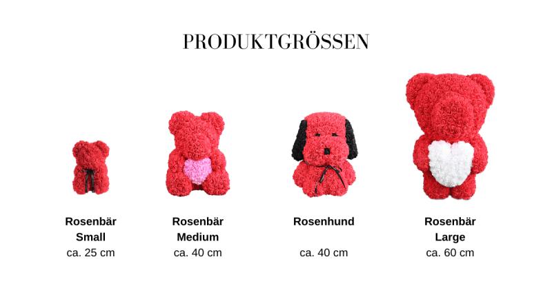 Größentabelle Rosenbären