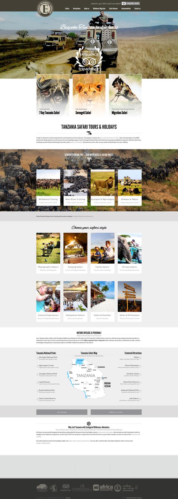 Ecological Adventure website