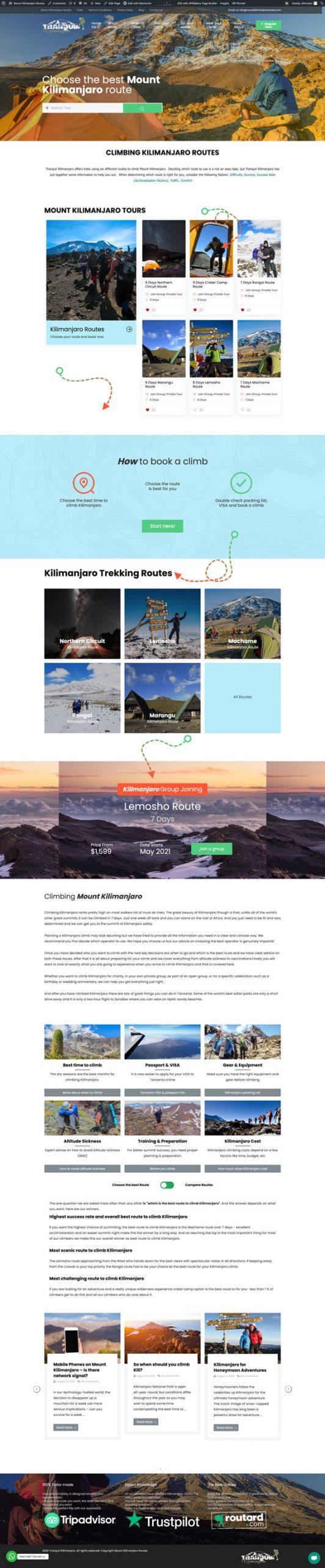 Mount Kilimanjaro Routes Website