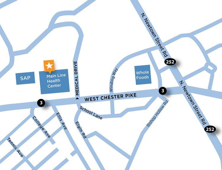 Infinity Dental Specialists Newtown Square map