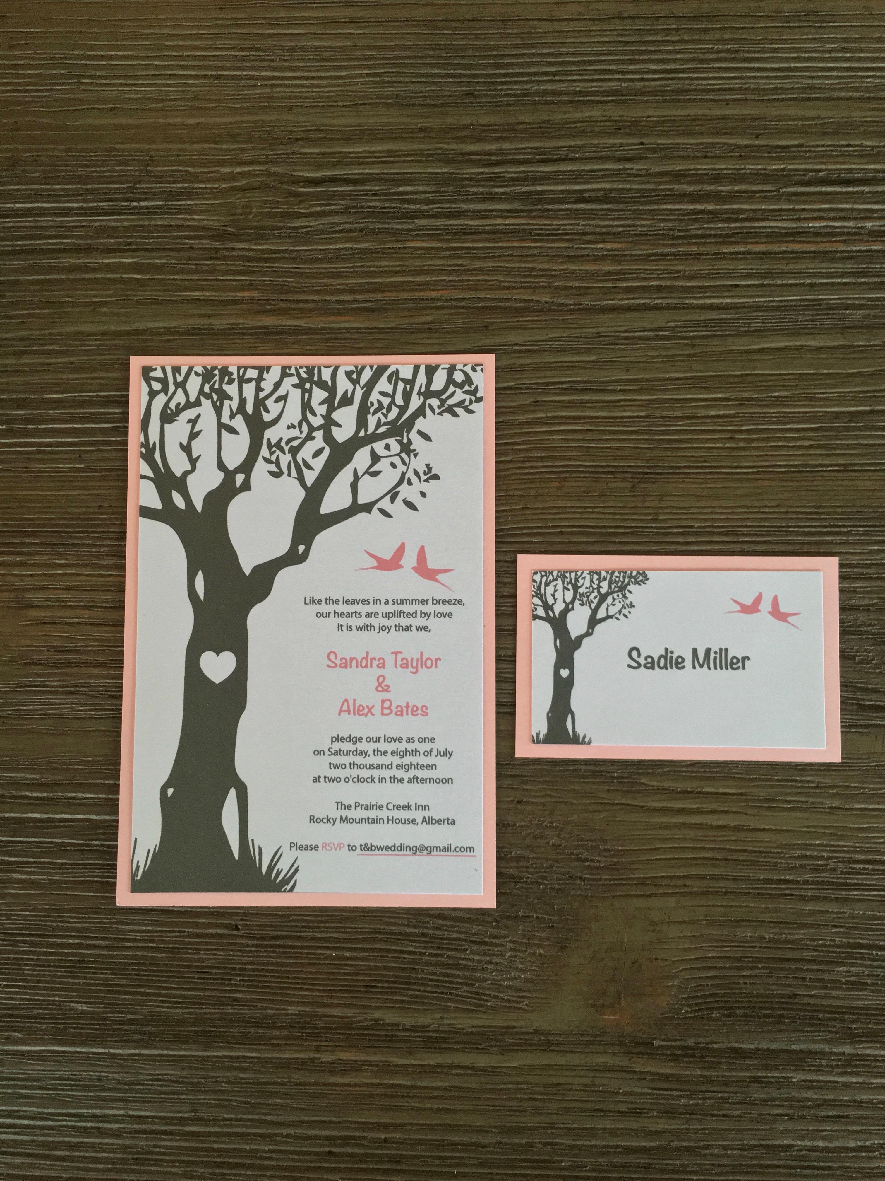 Wedding Invitation and Table Name Card Weddings, Invitations, Stationary