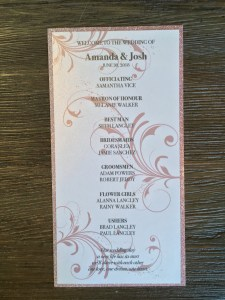 Wedding Ceremony Program Weddings, Invitations, Stationary