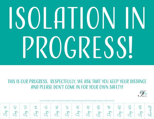 Isolation in progress Door Poster V1 Free printable