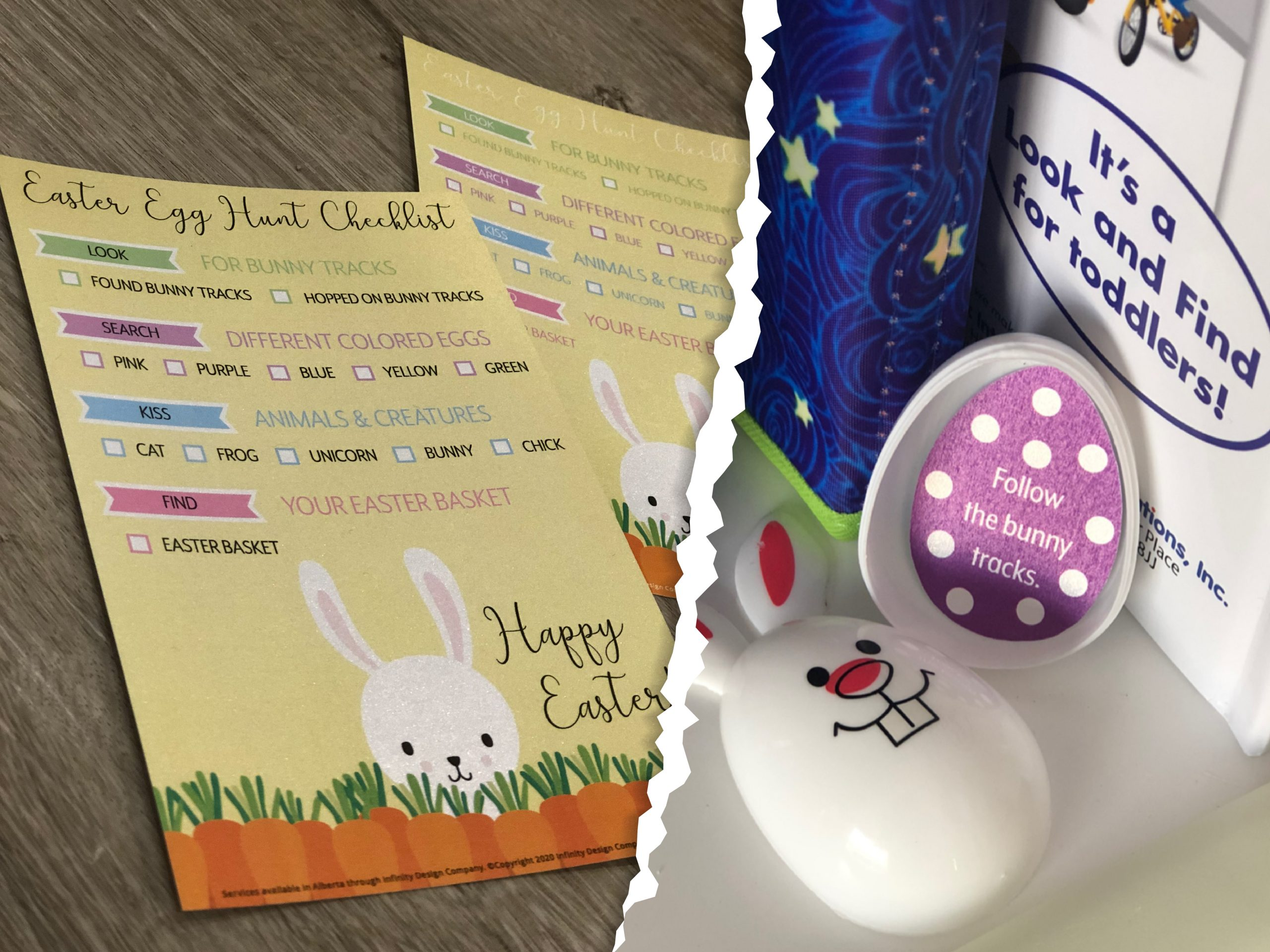 Easter Egg Hunt Checklist and Clues