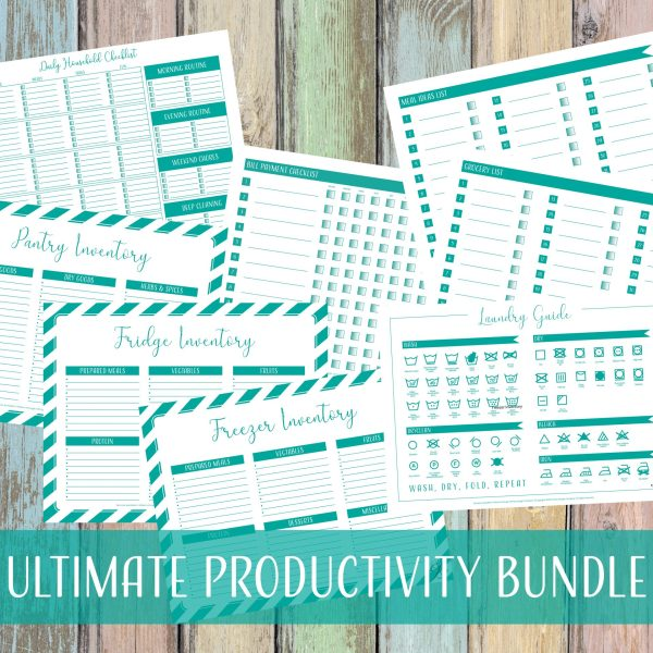 DIY Productivity Printable Bundle