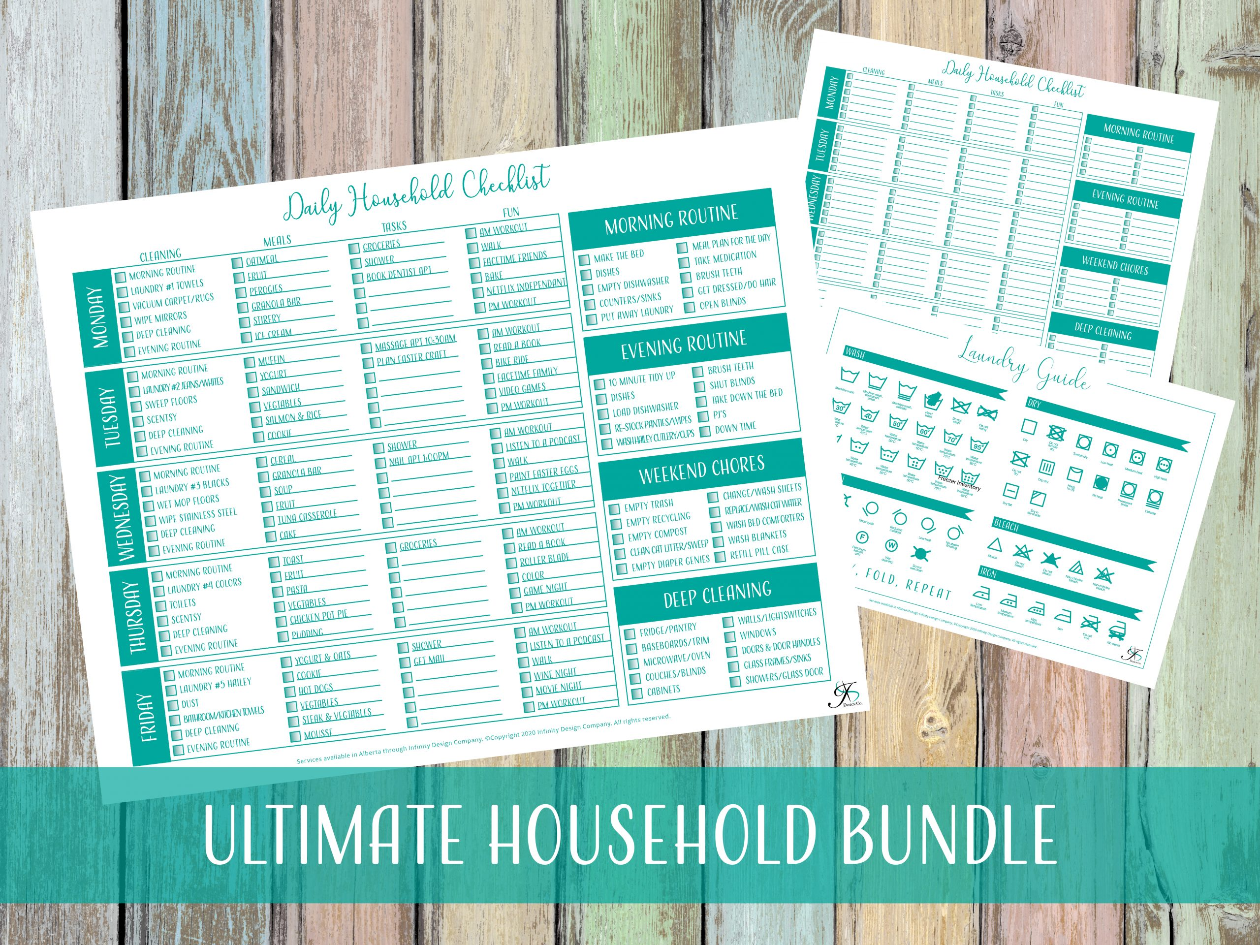Household Checklist & Laundry Bundle