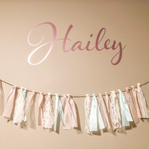 Personalized Name Monogram Nursery Wall Decal
