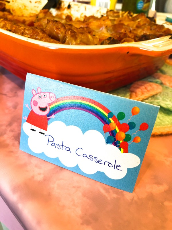 Food Table Card