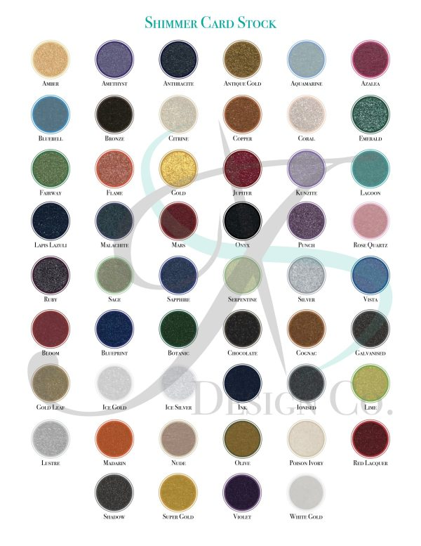 Paper Cardstock Swatches