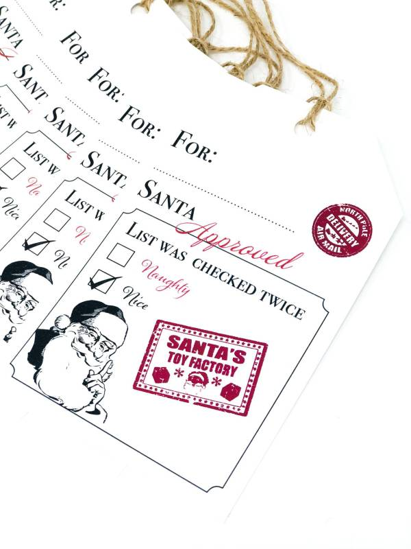 Christmas Gift Tags Santa Approved