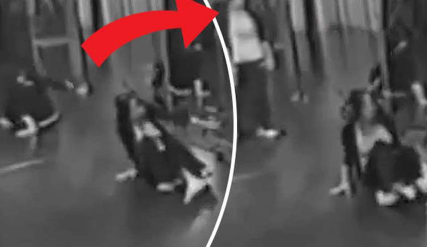 Disturbing video shows a ghost in the mirror of a dance center
