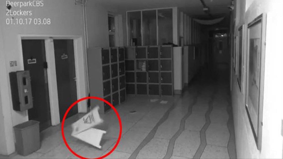 Security cameras show frightening paranormal activity in a school in Ireland