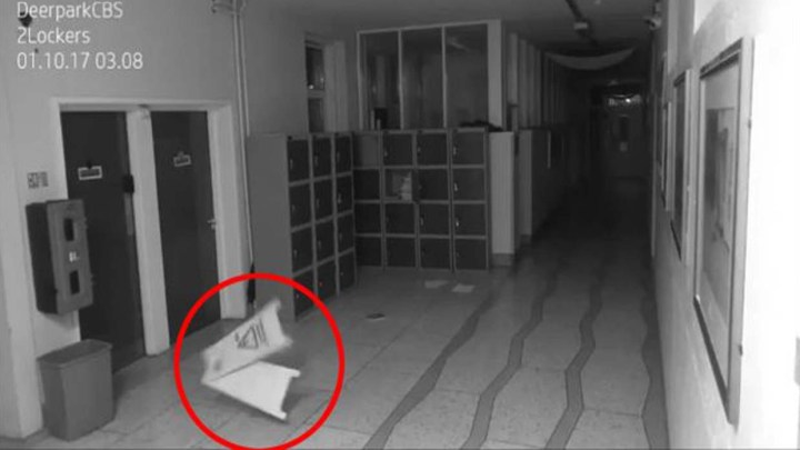 Security cameras show frightening paranormal activity in a school in Ireland