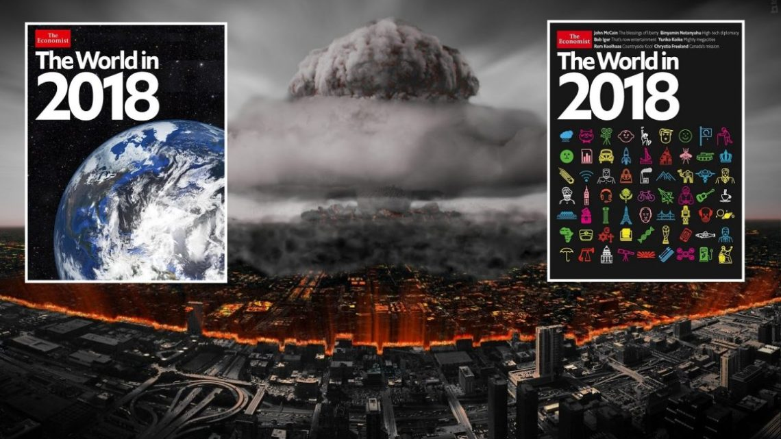 "The World in 2018 : We Reveal the Terror Hidden Secrets on the Cover of ""The Economist"""