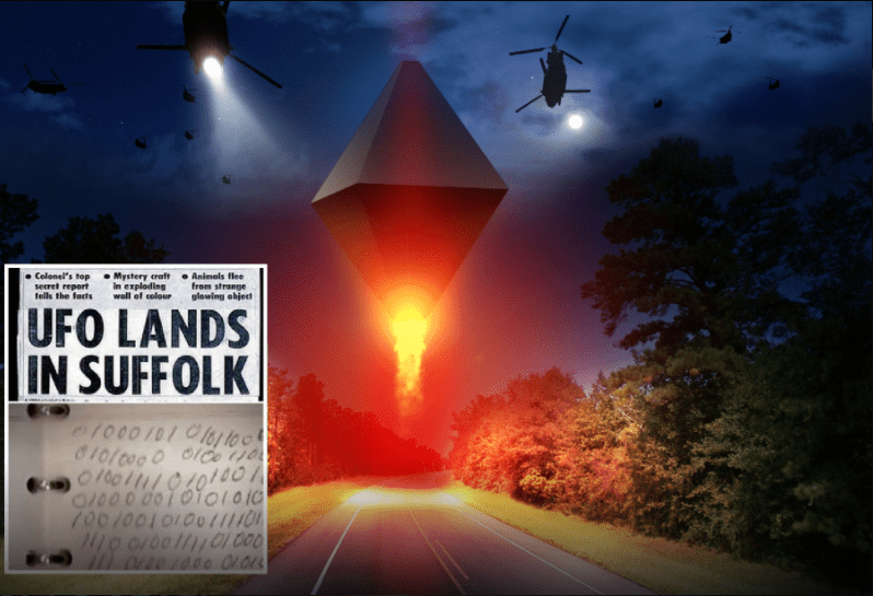 Rendlesham Forest incident : A hidden message for humanity from the year 8100