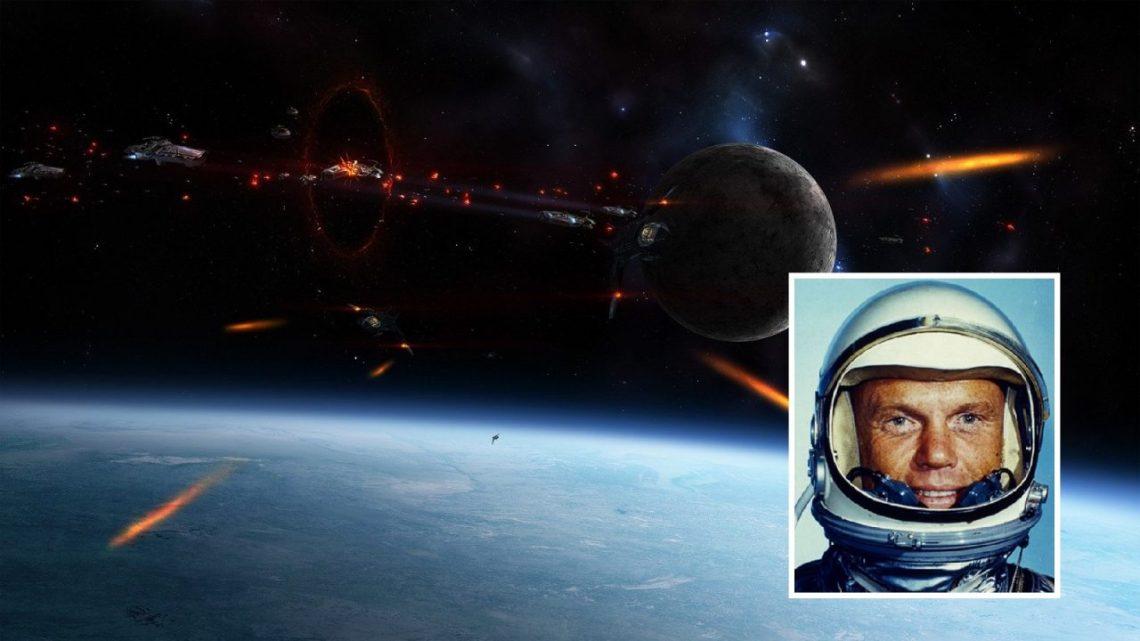 Stunning Radio Transmission of Astronaut John Glenn when dozens of UFOs surround him (Video)