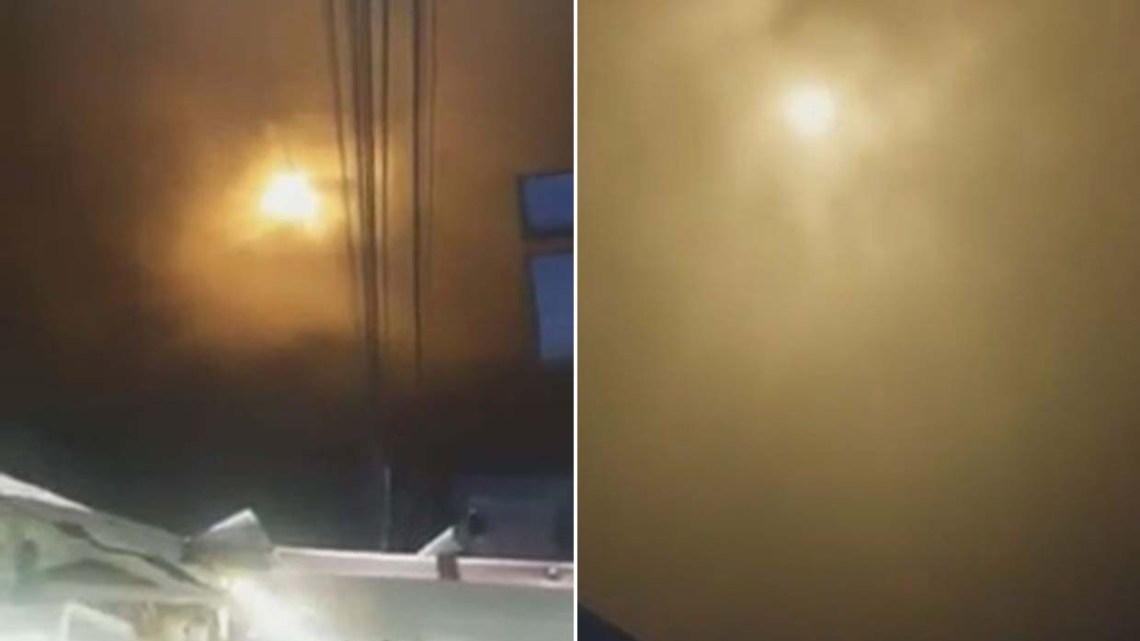 A very bright mysterious light in the sky causes panic in a Colombian city