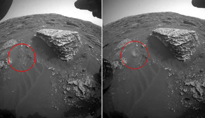 NASA accidentally publishes images of alien movement on mars