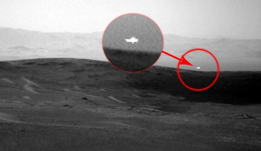 Image of NASA shows a mysterious white light on Mars and nobody knows what its origin