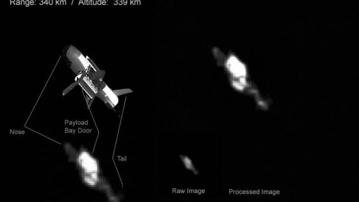 Astronomer manages to photograph a US experimental ship Boeing X-37B in the orbit of the Earth