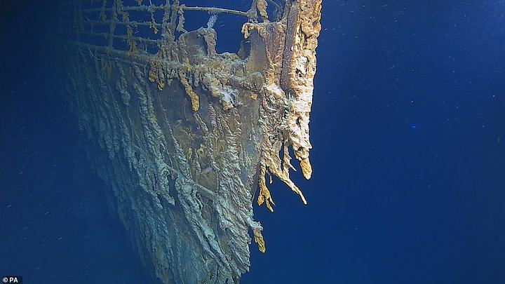 New high-resolution images of the Titanic show its deterioration