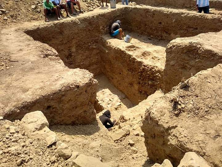 The megalithic temple was discovered in the Huaca El Toro in the district of Oyotún (Lambayeque region), Peru.Megalithic Water Temple