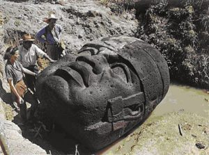 Giant Stone Head Of Guatemala