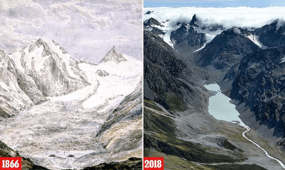 Glaciers in mountains where The Lord of the Rings was filmed have lost half of their ice