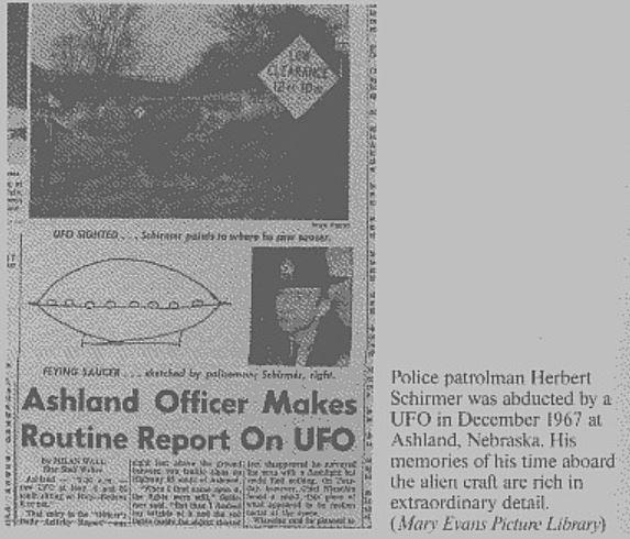 The Mysterious Alien Abduction Of  Police Officer Herbert Schirmer