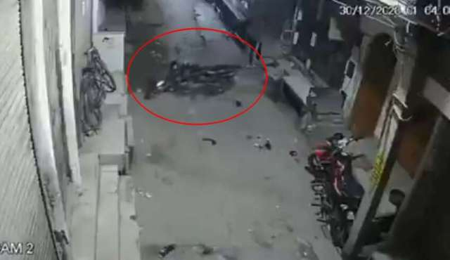 A Security Camera Recorded An Invisible Force Moving A Motorcycle In India