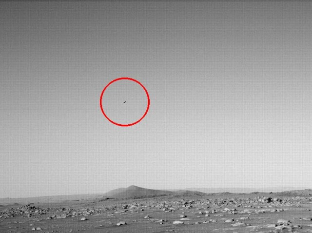 NASA's Perseverance Rover Photographs A Flying Object On Mars