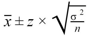 confidence interval formula