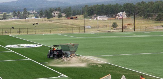 installation of artificial grass sports fields