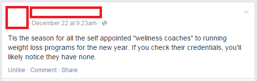 """Beware of New Year's Detoxes and """"Health Coaches"""" Part 1"""