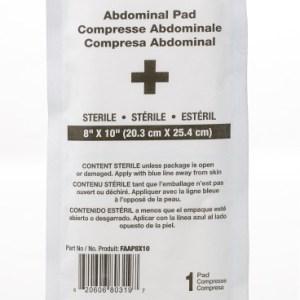 "Abdominal Pad Sterile 8""x10"""