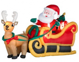 The Solution Inflatable Outdoor Decorations Santa In A Sleigh