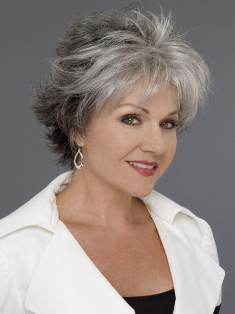 Photo Gallery of Short Haircuts  60  Year  Old  Woman  Viewing
