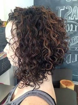 2019 Popular Inverted Bob For Curly Hair