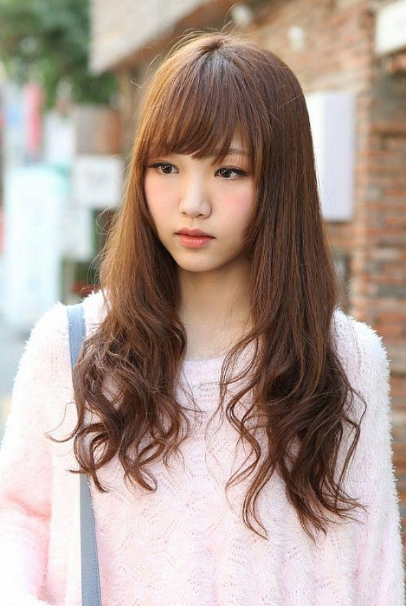 15 Collection of Korean  Long  Hairstyles  For Round  Faces