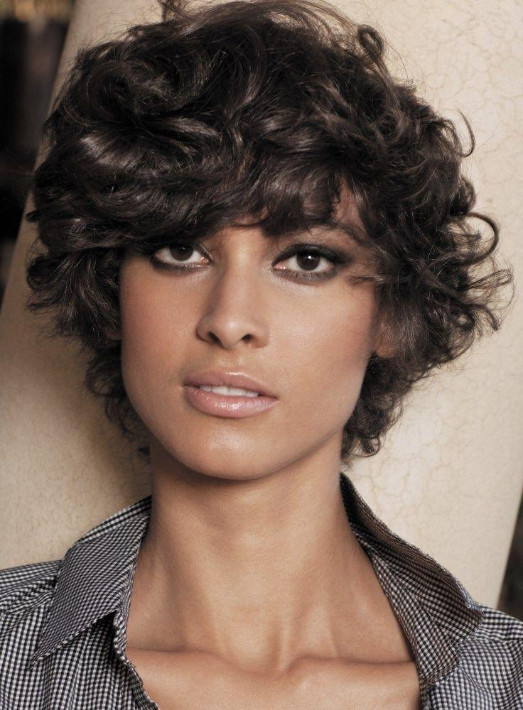 Short And Curly Hair Haircuts Round Face