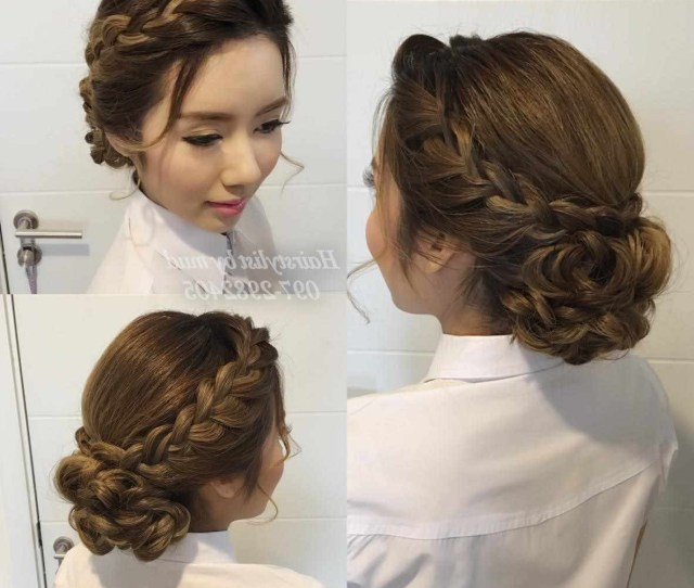 Ideas Medium Length Hair Wedding Hairstyle Updos Bridesmaids About With Regard To Most Current Easy Wedding